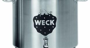 Einkochautomat Edelstahl - Weck Einkochtopf Edelstahl Design - schwarzem Deckel