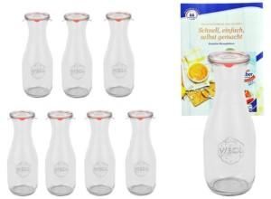 Gläser Saftflasche von Weck mit Glasdeckel